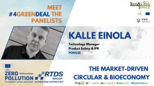Kalle Einola, Technology Manager at PONSSE